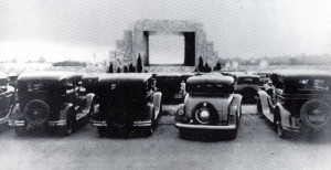 first drive-in-theater